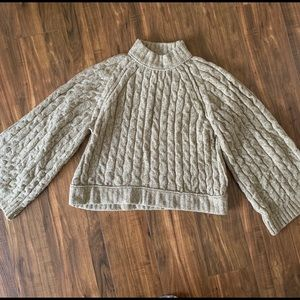 Free people oversized cable sweater